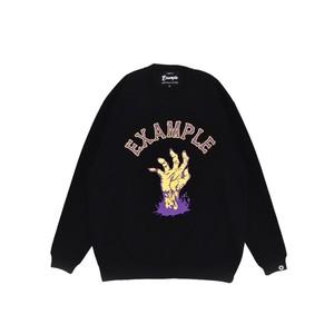 ZOMBIE HANDS CREW NECK / BLACK