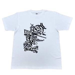 LY:Original T-Shirts ホワイトボディー (Front Print) ② 2020002FPW