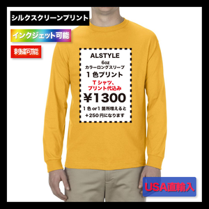 "ALSTYLE (AAA) 6.0oz Classic Long Sleeve ""国外カラー"" (品番1304US)"