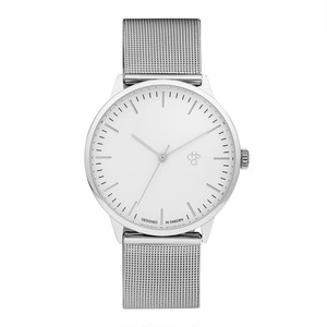 NANDO SILVER【CHPO】 White dial. Metal mesh wristband