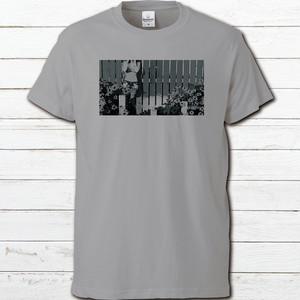 プリントTシャツ オリジナル 半袖シャツ メンズ レディース おしゃれ セール 女の子 可愛い 片面印刷 デザインシャツ タイトル:夏空のビニキ カラーグレー