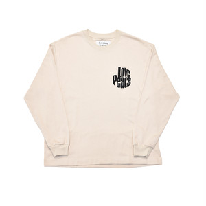 EXTRALESS Love Peace Extraless L/S Tee Sand EX19SS0006