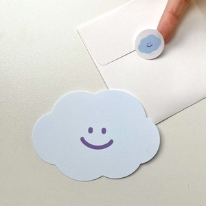 [skyfolio] にゅうどうぐも 封筒付きミニメッセージカード