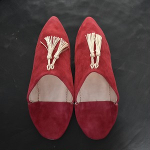 "SØMME / TASSEL BABOUSH  SUEDE ""Brick Red"""