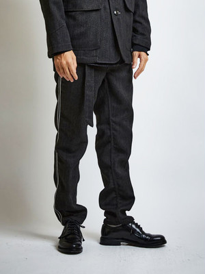 EGO TRIPPING (エゴトリッピング) MARCHING TROUSERS マーチングトラウザー / MOKU CHARCOAL 623751-04