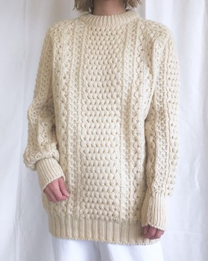 vintage hand knit fisherman sweater