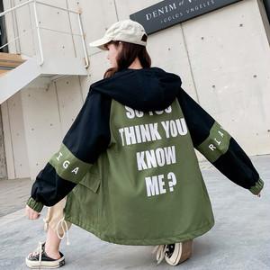【アウター】今季も大流行ストリート切り替えフード付き配色 ジャケット27383819