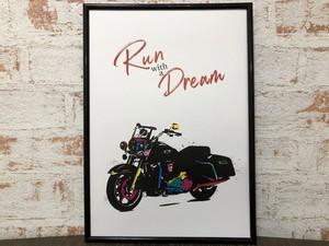 アートポスター おしゃれインテリア Run with a Dream