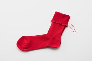 ヒムカシ綿靴下 Scarlet (Rose)