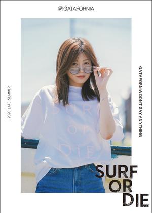 【完全受注】SURF OR DIE S/S GATAFRONIA Tシャツ  ホワイト×ピンク