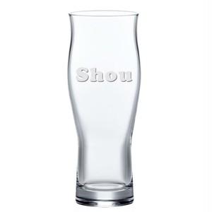 名入れ ビールグラス 口あたり