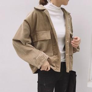 【アウター】ファッションシングルブレストミニ丈無地ジャケット23260732