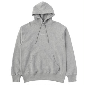 EXAMPLE EMBROIDERY SCRIPT LOGO HOODIE / GRAY