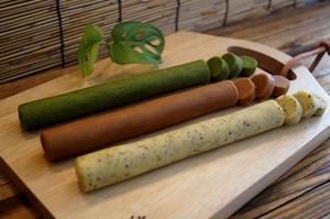 北海道産小麦100%/自然素材/冷凍クッキー/大人セット(ローズマリー・シナモン・抹茶)/各1本3本セット/冷凍生地/切って焼くだけ/
