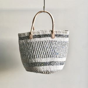 Leather Handle Sisal Bag