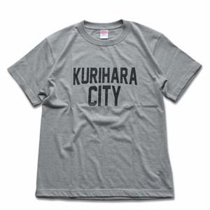 KURIHARA CITY 5.6oz ハイクオリティーTシャツ(ミックスグレー)