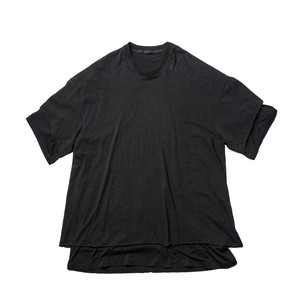 627CUM5-BLACK / レイヤードダブルT-シャツ