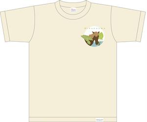 受注品《宮古馬チャリティ》Tシャツ フロントプリント(ナチュラル)
