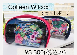 1117A31209-005 Colleen Wilcoxポーチ3点セット ポーチ ハワイ ビーチ  ビーチガール