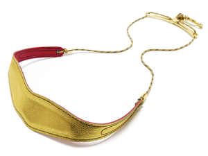 バードストラップ【カラー】【スリムパッド】【ワイドプレート】ゴールド×レッド