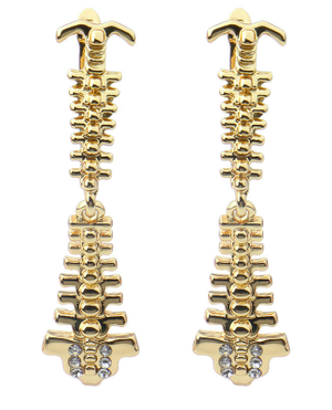 Spineピアス 脊椎 カラー:ゴールド