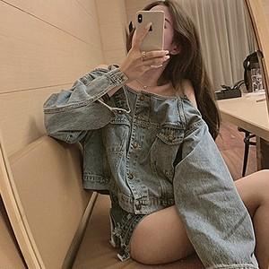 【アウター】デニム大人気韓国ベスト式長袖ジャケット43516190