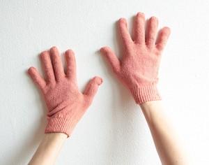 満月染めスペシャル シルク手袋(茜染め) ほっこり 冷え取り 温活 冷え取り 出産祝い マッサージ