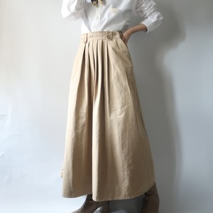 Front pleated skirt
