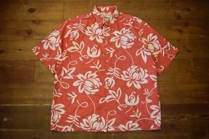 USED レインスプーナー ハワイアン アロハシャツ L  赤白