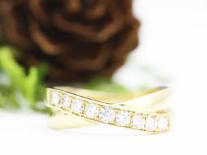 18金0.30ctエクセレントカットのダイヤモンドリング