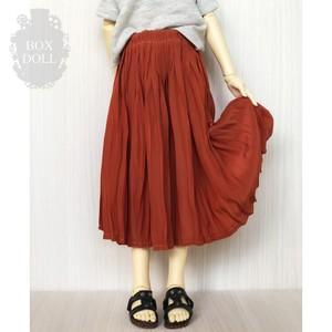 【SDサイズ】とろみプリーツスカート かぼちゃ