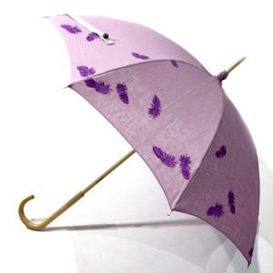 hane ふわふわ刺繍日傘 ライラック×ムラサキ 47㎝