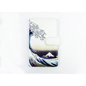スマホケース手帳型 マルチタイプ 沖波裏 7sjp0020-on-1803