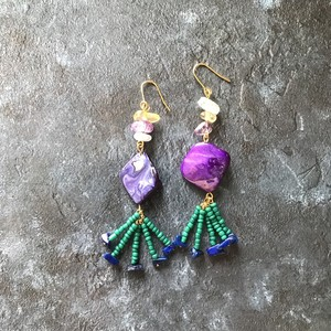 pierce or earring / MIX-purple