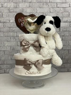 ジェリーキャット♡白黒puppyのおむつケーキ