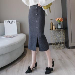 【bottoms】肌触り良いレディース定番大人しいスカート 23337816