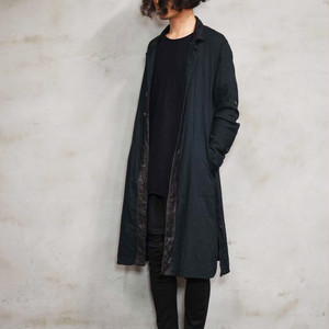 "Leather×Cotton ""Coat""-Black"