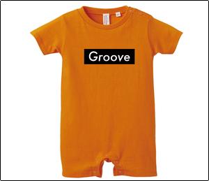 Grooveロンパース(ORANGE) Black Box Logo