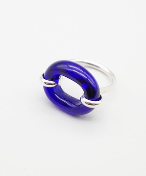 【CLED / クレッド】IN THE LOOP Ring / リング / Sterling silver×Blue Ocean