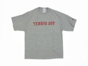 TENNIS BOY Champion Tee OXグレー×レッド TS-106