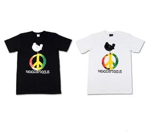 ROCK T-SHIRT 【 Woodstock ウッドストック】ピースロゴ