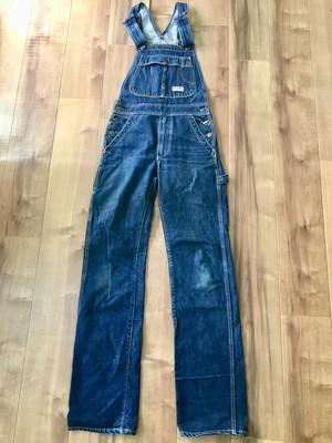 国産 ビンテージ blueway ブルーウェイ 細身 オーバーオール 70s 80s インディゴ ワーク