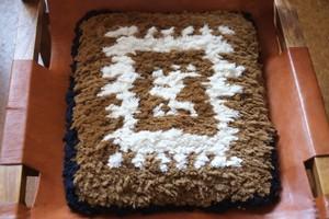 【佐藤さんのノッティング】◆◆手織りの椅子敷き★★2020.9.15★★NEW !
