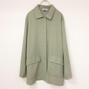 SPORT collection ビッグシルエットシャツジャケット グリーン色 古着