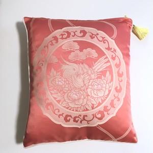 【期間限定】甲州シルクのクッションカバー ピンク