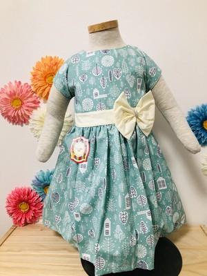 SOLBONITO ベビー用ドレス 北欧風ブルー