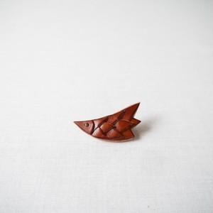 鳥のブローチ(濃茶)