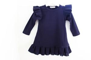 RIMI&Co. SELECT KID'S 子供服 ネオプレーンフリル ジャージーワンピース SIZE:80/90/100