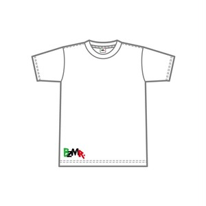 BZMR [Bottom print color tee] White.