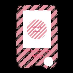 フリースタイルリブレ dress-upシール★milky pink stripe★